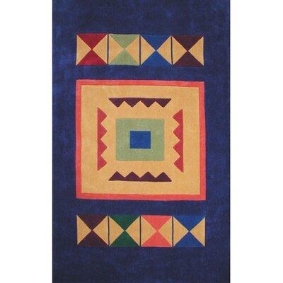 Bright Aztek Navy Area Rug Rug Size: 5 x 8