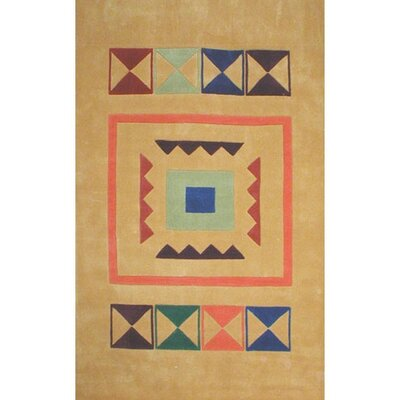 Bright Aztek Yellow Area Rug Rug Size: 5 x 8