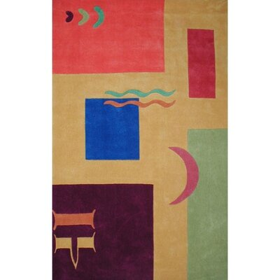 Bright Sunny Yellow Celebration Area Rug Rug Size: 5 x 8