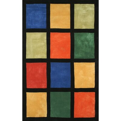 Bright Window Blocks Area Rug Rug Size: 8 x 11