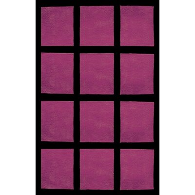 Bright Rug Window Blocks Purple/Black Rug
