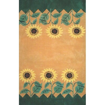 Bright Sunflower Area Rug Rug Size: Rectangle 8 x 11