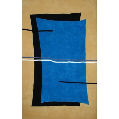 Bright Flash Blue/Yellow Area Rug Rug Size: 5 x 8