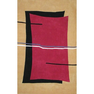 Bright Flash Red/Yellow Area Rug Rug Size: 36 x 56