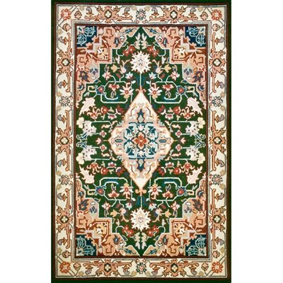 Bucks County Heriz Emerald Area Rug Rug Size: Runner 26 x 8