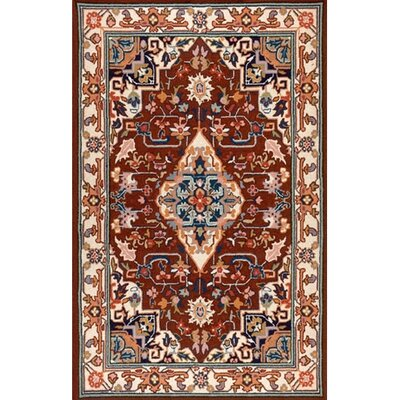 Bucks County Heriz Burgundy/Ivory Area Rug Rug Size: Rectangle 4 x 6