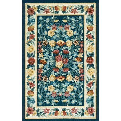 Bucks County Navy/Ivory Floral Garden Area Rug Rug Size: Runner 26 x 6