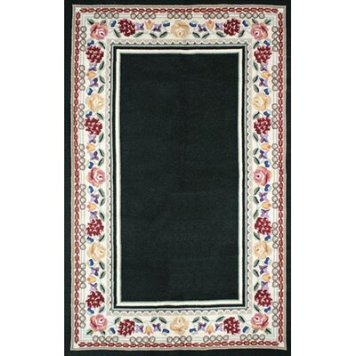 Bucks County Black/Ivory Border Area Rug Rug Size: Runner 26 x 6
