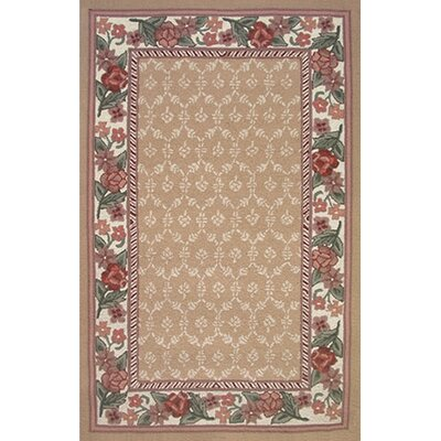 Bucks County Autumn/Ivory Damask Area Rug Rug Size: 86 x 116
