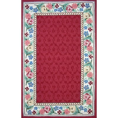 Bucks County Burgundy/Ivory Damask Area Rug Rug Size: Runner 26 x 6