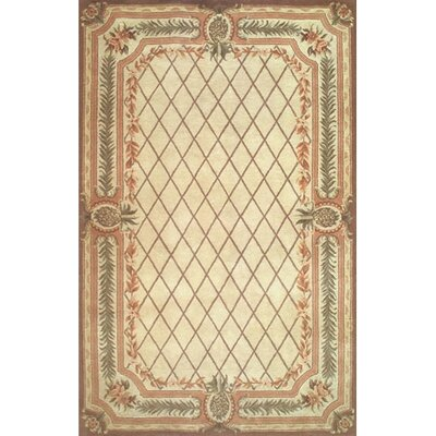 Cape May Beige / Brown Area Rug Rug Size: Round 6