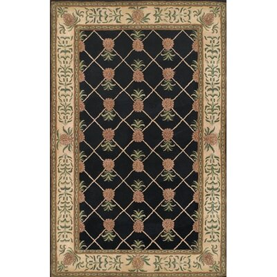 Cape May Black / Ivory Area Rug Rug Size: 36 x 56