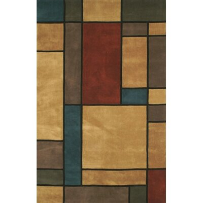 Casual Contemporary Earth Tones Metro Area Rug Rug Size: 36 x 56
