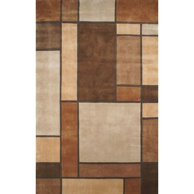 Casual Contemporary Beige / Brown Metro Area Rug Rug Size: 36 x 56