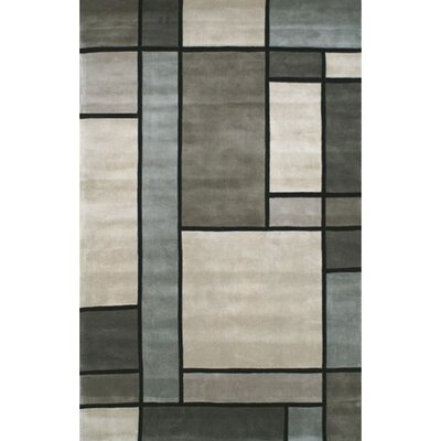 Casual Contemporary Grey / Slate Metro Area Rug Rug Size: 36 x 56