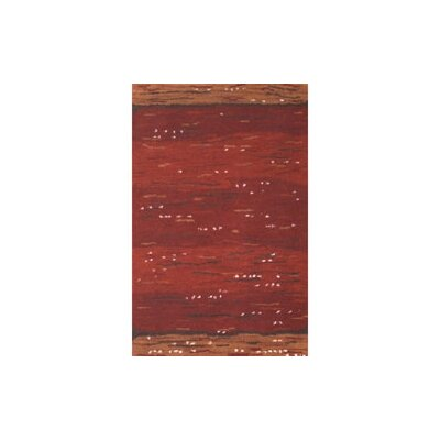 Casual Contemporary Rust Earth Valley Area Rug Rug Size: 56 x 86