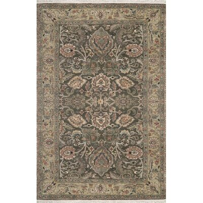 Couture Hand-Knotted Wool Brown/Beige Area Rug Rug Size: Rectangle 14 x 24