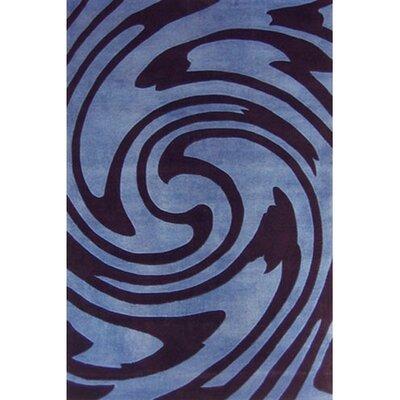 Modern Living Jazzy Blue/Black Rug Rug Size: 8 x 11