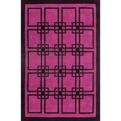 Modern Living Omni Purple/Black Rug Rug Size: 5 x 8