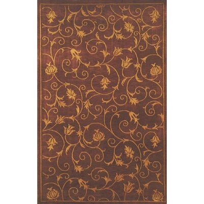 Neo Nepal Wine French Scrolls Rust Area Rug Rug Size: Rectangle 36 x 56