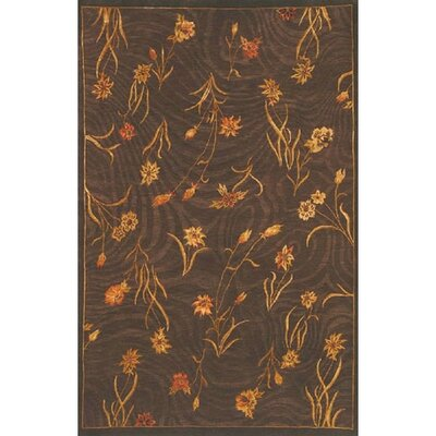 Neo Nepal Garden Flowers Brown Floral Area Rug Rug Size: Rectangle 56 x 8