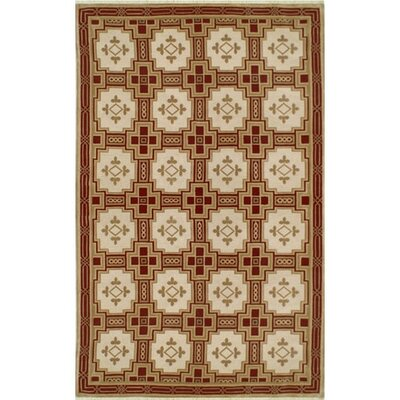 Neo Nepal Empire Gold/Burgundy Area Rug Rug Size: 6 x 9