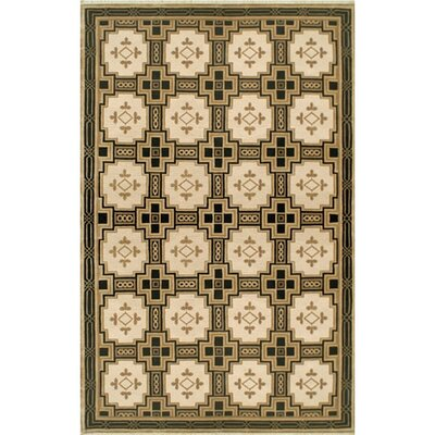 Neo Nepal Empire Gold/Black Area Rug Rug Size: Rectangle 4 x 6