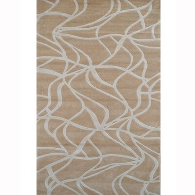 Kinetic Beige/Ivory Rug Rug Size: 5 x 8