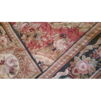 Aubusson Hand-Woven Burgundy Area Rug Rug Size: Rectangle 10 x 14