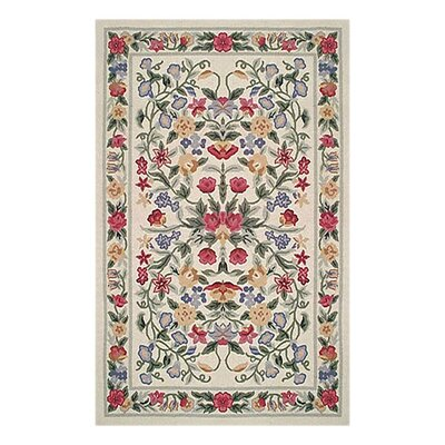 Bucks County Ivory Floral Garden Area Rug Rug Size: Rectangle 39 x 59