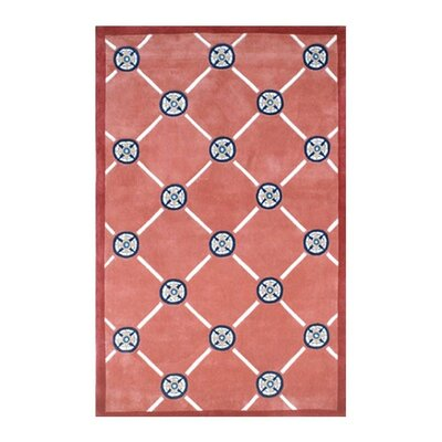 Beach Rug Peach Compass Novelty Rug Rug Size: 8 x 11