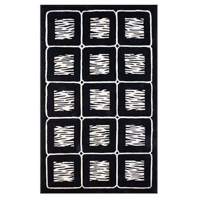African Safari Off White/Black Animal Magnetism Area Rug Rug Size: 8 x 11