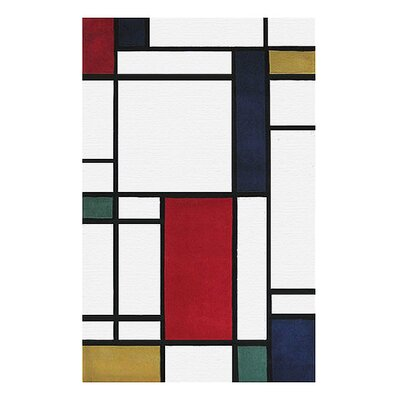 Modern Living Neo Metro Hand Tufted Red/Black Area Rug Rug Size: Rectangle 8 x 11