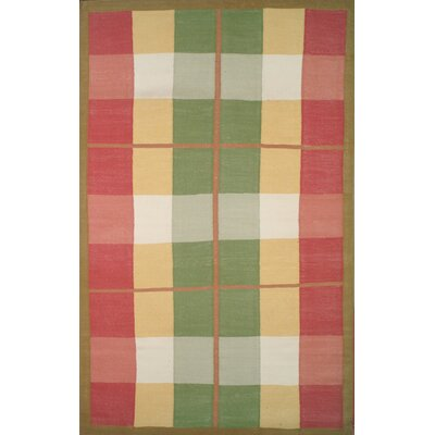 Cottage Kilim Plaid Morning Rug Rug Size: Rectangle 5 x 8