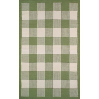 Cottage Kilim Sage Elegant Check Area Rug Rug Size: Rectangle 8 x 11