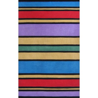 Kiddie Comic Book Stripes Area Rug Rug Size: Rectangle 36 x 56