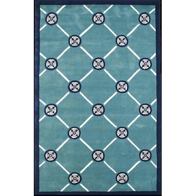 Beach Rug Teal Compass Novelty Rug Rug Size: 8 x 11