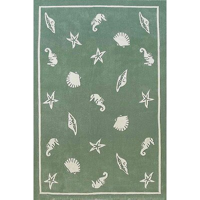 Beach Rug Seafoam Shells and Seahorses Novelty Rug Rug Size: 36 x 56