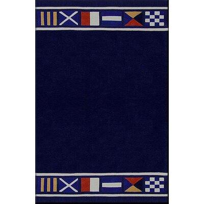 Beach Rug Nautical Flags Novelty Rug Rug Size: 5 x 8