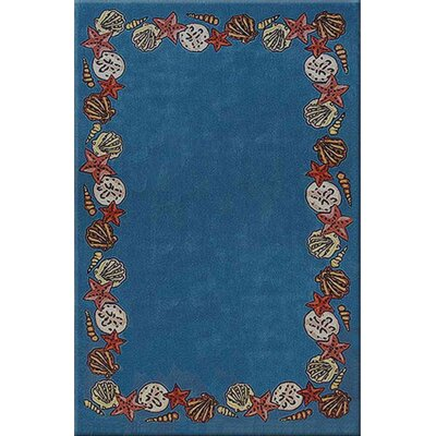 Beach Rug Blue Coral Reef Novelty Rug Rug Size: Rectangle 8 x 11