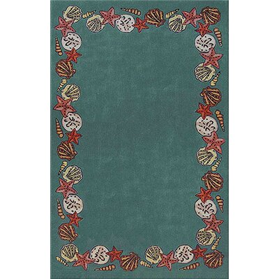 Beach Rug Teal Coral Reef Novelty Rug Rug Size: Round 8