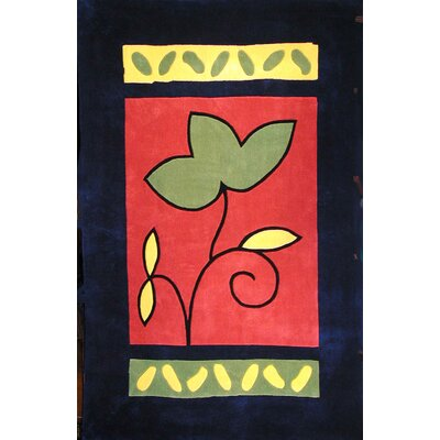 Bright A Single Flower Area Rug Rug Size: 5 x 8