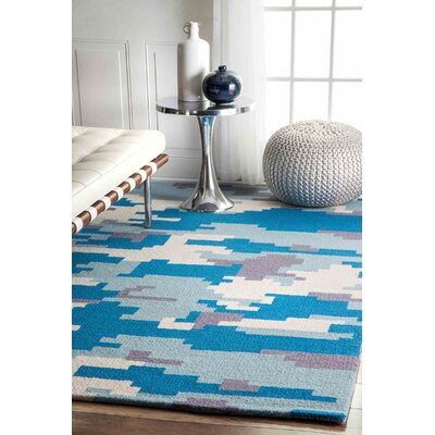 Thomas Paul Hand-Tufted Blue Area Rug Rug Size: 5 x 8