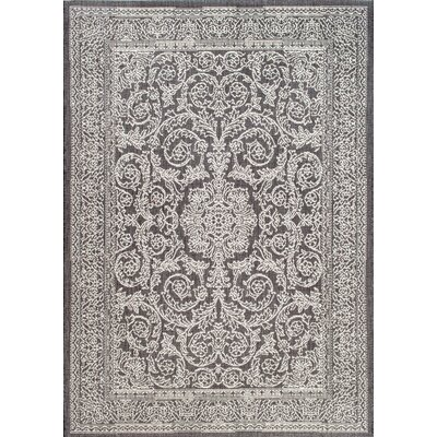Gray/Black Indoor/Outdoor Area Rug Rug Size: 76 x 109