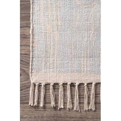 Thomas Paul Handmade Cotton Ivory/Orange Area Rug Rug Size: 4 x 6