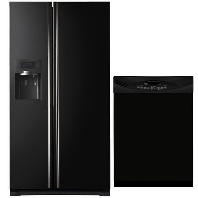 Side By Side Refrigerator And Dishwasher Cover In Black