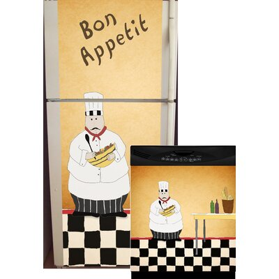 Chef Top And Bottom Refrigerator And Dishwasher Cover