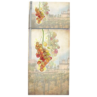 Tuscan Grapes Top And Bottom Refrigerator Cover