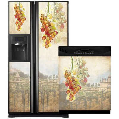Tuscan Grapes Side By Side Refrigerator And Dishwasher Cover