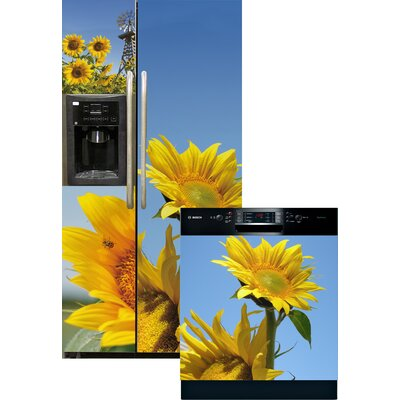 Sunflowers Side By Side Refrigerator And Dishwasher Cover